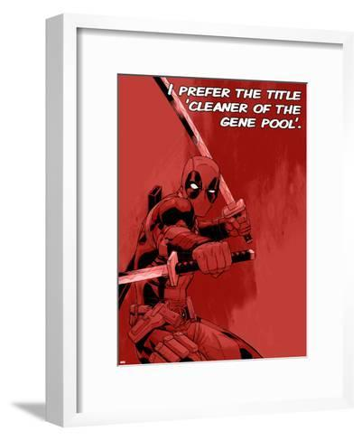Deadpool - Cleaner of the Gene Pool--Framed Art Print
