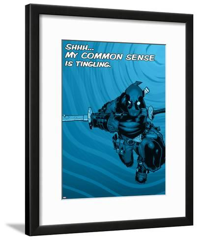Deadpool - Common Sense--Framed Art Print