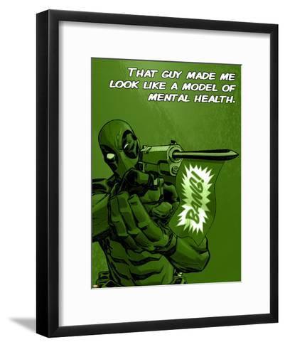 Deadpool - A Model of Mental Health--Framed Art Print