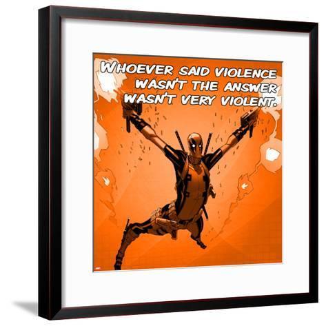 Deadpool - Violence Square--Framed Art Print