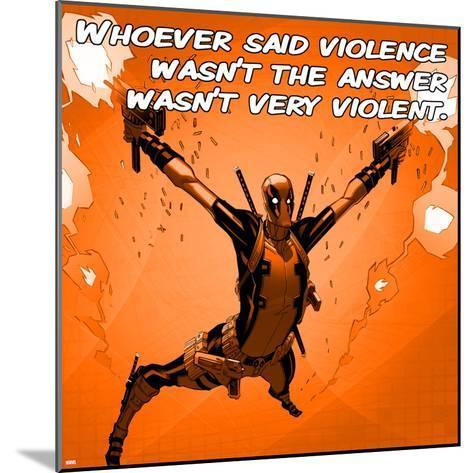 Deadpool - Violence Square--Mounted Art Print