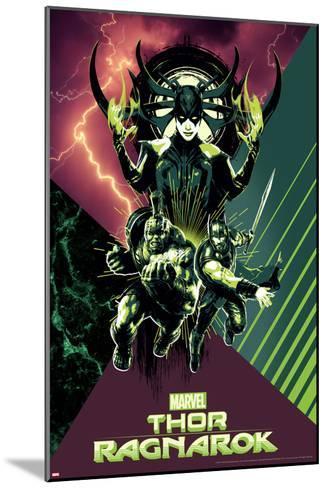 Thor: Ragnarok - Hela, Thor, Hulk--Mounted Art Print