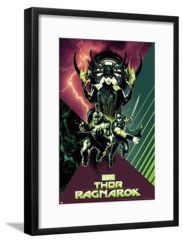 Thor: Ragnarok - Hela, Thor, Hulk--Framed Art Print
