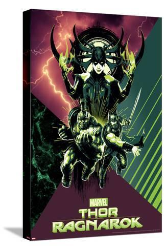 Thor: Ragnarok - Hela, Thor, Hulk--Stretched Canvas Print