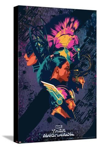 Thor: Ragnarok - Thor, Hulk, Valkyrie, Loki, Hela--Stretched Canvas Print