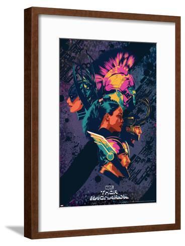 Thor: Ragnarok - Thor, Hulk, Valkyrie, Loki, Hela--Framed Art Print