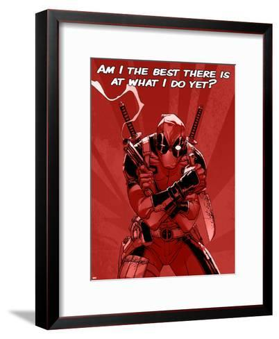 Deadpool - The Best There Is--Framed Art Print