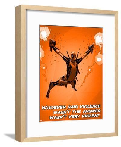 Deadpool - Violence--Framed Art Print