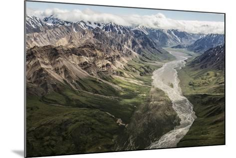 Aerial View of a Flowing River in Denali National Park and Preserve-Aaron Huey-Mounted Photographic Print