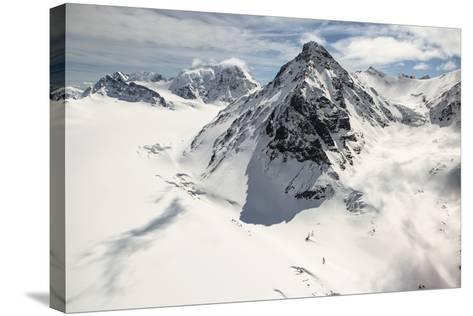 The Alaska Range in Denali National Park-Aaron Huey-Stretched Canvas Print