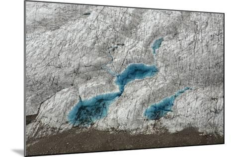 Aerial View of Glacial Pools on Ruth Glacier in Denali National Park and Preserve-Aaron Huey-Mounted Photographic Print