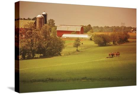 Fall Farm-Aledanda-Stretched Canvas Print