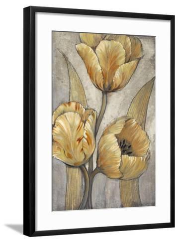 Ochre & Grey Tulips I-Tim O'toole-Framed Art Print