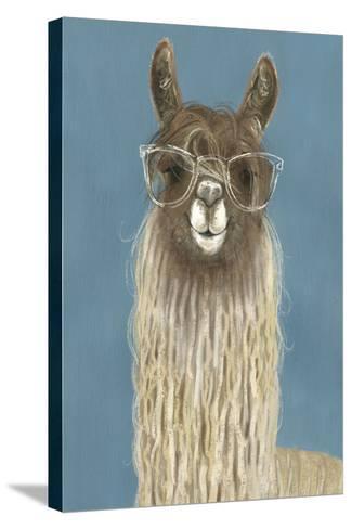 Llama Specs IV-Victoria Borges-Stretched Canvas Print