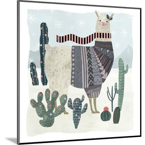 Holiday Llama II-Victoria Borges-Mounted Art Print