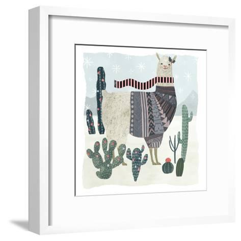 Holiday Llama II-Victoria Borges-Framed Art Print