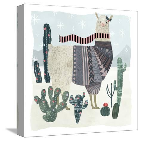 Holiday Llama II-Victoria Borges-Stretched Canvas Print