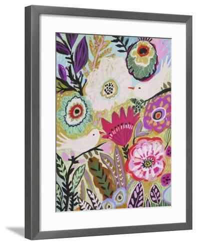Garden Birds I-Karen  Fields-Framed Art Print