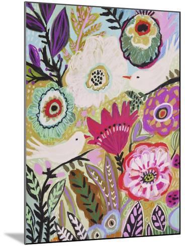 Garden Birds I-Karen  Fields-Mounted Art Print