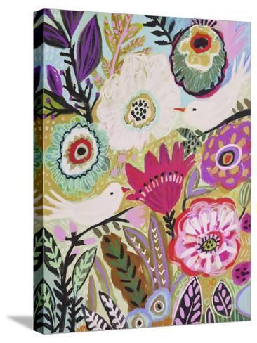 Garden Birds I-Karen  Fields-Stretched Canvas Print