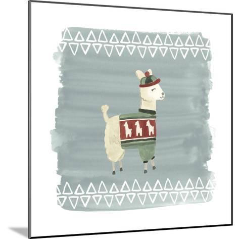 Winter Wonder Llama III-June Erica Vess-Mounted Art Print