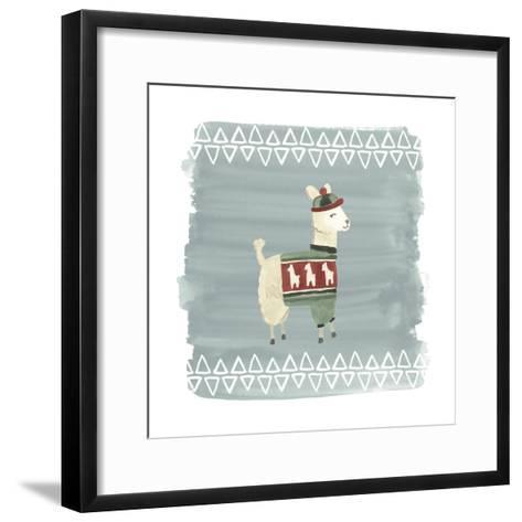 Winter Wonder Llama III-June Erica Vess-Framed Art Print