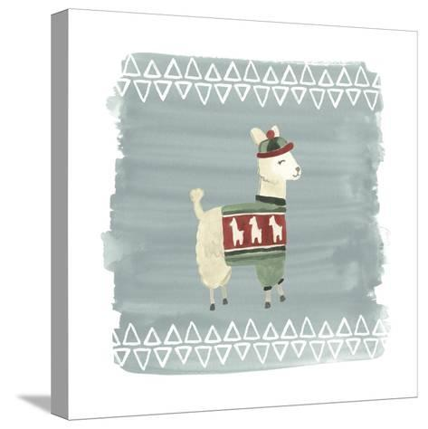 Winter Wonder Llama III-June Erica Vess-Stretched Canvas Print