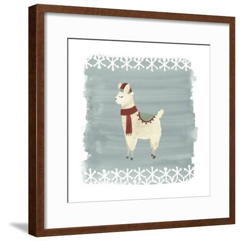 Winter Wonder Llama II-June Erica Vess-Framed Art Print