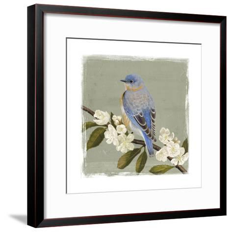 Bluebird Branch II-Victoria Borges-Framed Art Print