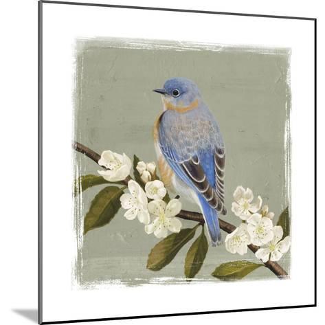Bluebird Branch II-Victoria Borges-Mounted Art Print