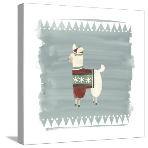 Winter Wonder Llama IV-June Erica Vess-Stretched Canvas Print