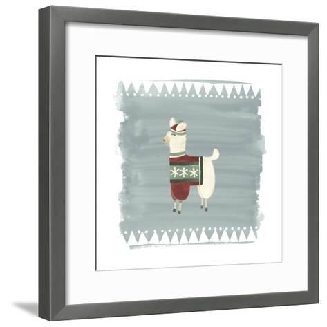 Winter Wonder Llama IV-June Erica Vess-Framed Art Print