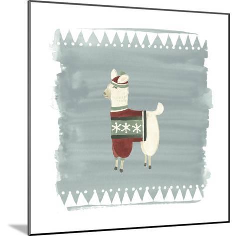 Winter Wonder Llama IV-June Erica Vess-Mounted Art Print