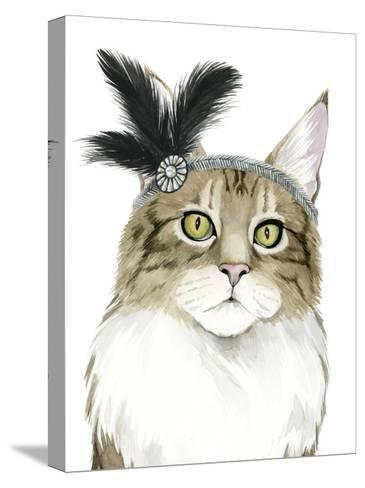 Downton Cat IV-Grace Popp-Stretched Canvas Print