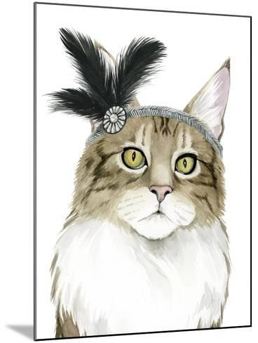 Downton Cat IV-Grace Popp-Mounted Art Print
