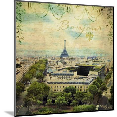 Eiffel Romance V-Sandy Lloyd-Mounted Art Print