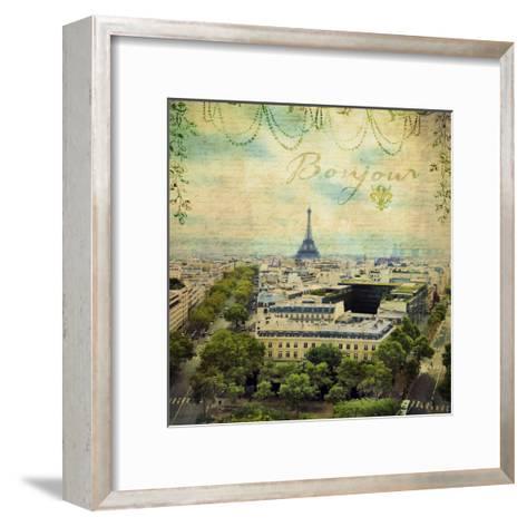 Eiffel Romance V-Sandy Lloyd-Framed Art Print