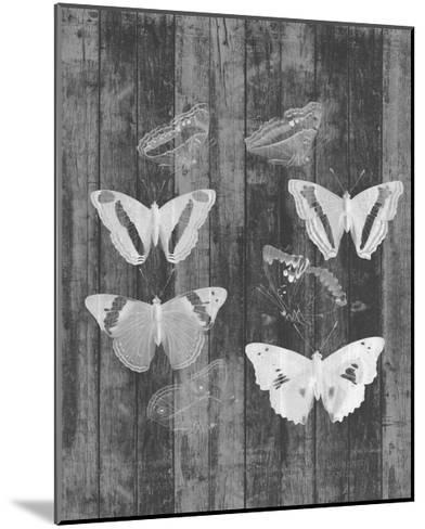 Rustic Butterfly Chart I-Jennifer Goldberger-Mounted Art Print