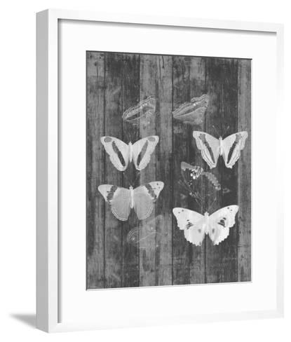 Rustic Butterfly Chart I-Jennifer Goldberger-Framed Art Print