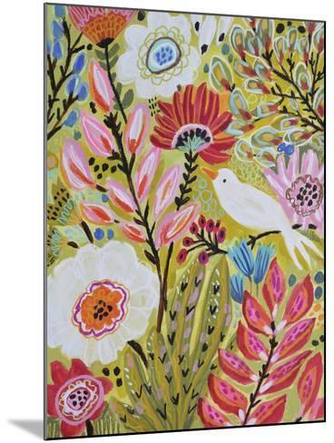 Garden Birds II-Karen  Fields-Mounted Art Print