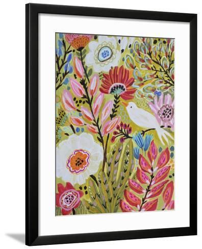 Garden Birds II-Karen  Fields-Framed Art Print