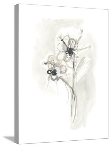 Neutral Floral Gesture VII-June Erica Vess-Stretched Canvas Print