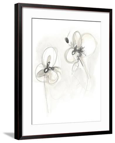 Neutral Floral Gesture VIII-June Erica Vess-Framed Art Print