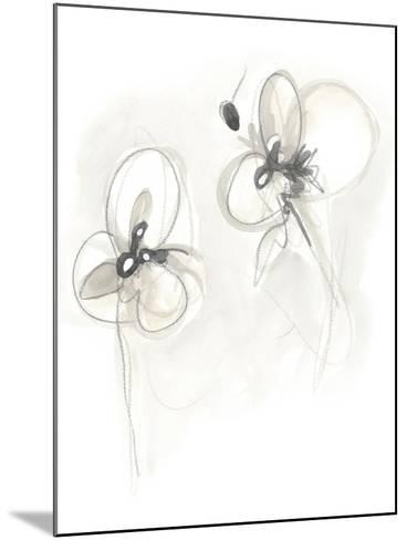 Neutral Floral Gesture VIII-June Erica Vess-Mounted Art Print