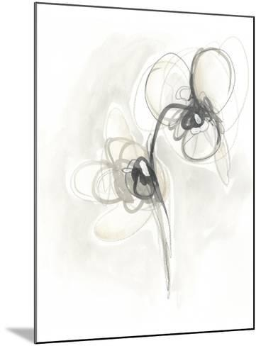 Neutral Floral Gesture I-June Erica Vess-Mounted Art Print