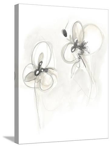 Neutral Floral Gesture VIII-June Erica Vess-Stretched Canvas Print