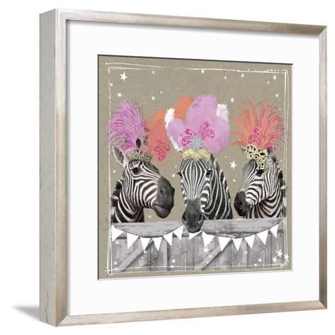 Fancy Pants Zoo II-Hammond Gower-Framed Art Print