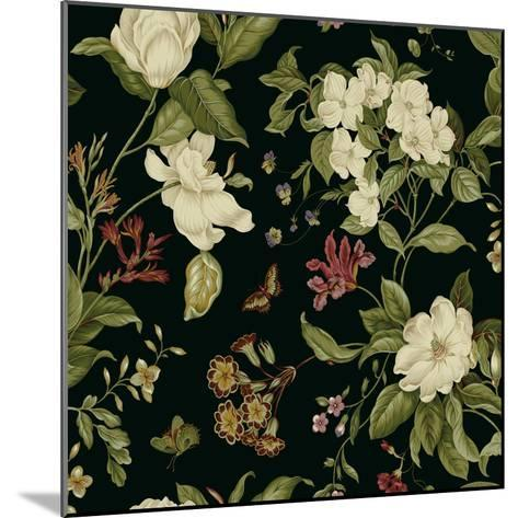 Garden Floral on Black II-Unknown-Mounted Art Print