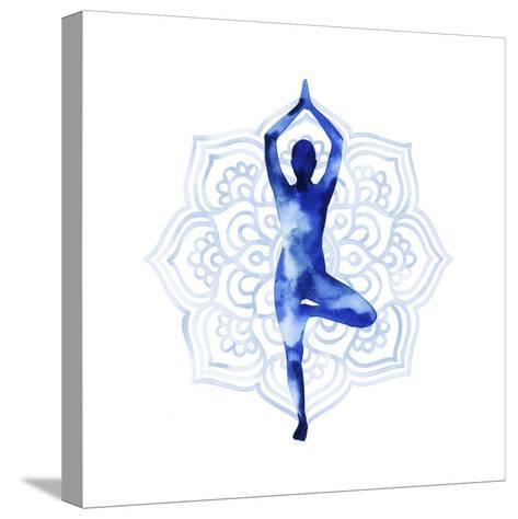 Yoga Flow III-Grace Popp-Stretched Canvas Print