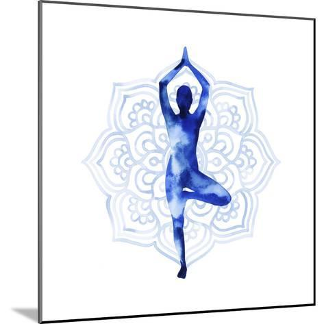 Yoga Flow III-Grace Popp-Mounted Art Print